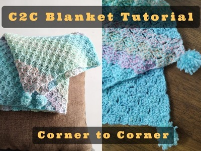 How to crochet C2C | Corner to Corner crochet tutorial by Anjana Dhanavanthan