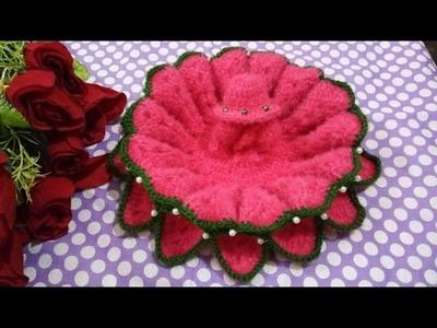 How to Crochet Lotus flower dress of laddu gopal | Lohri, Makar sankranti special dress of kanha ji