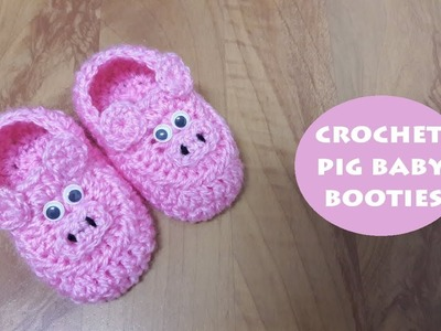 How to crochet pig baby booties? | !Crochet!