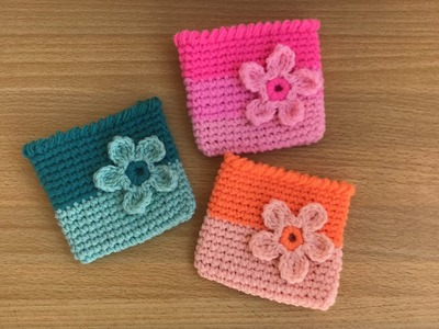 How to Crochet Small Pouches (Out of Scrap Yarns)