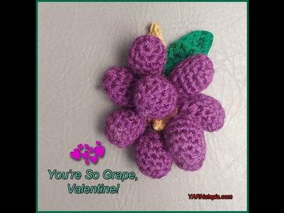 How to Crochet Tutorial: DIY Bunch of Grapes Amigurumi by YARNutopia