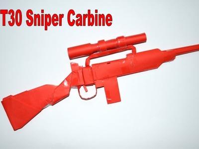 How to make a paper gun - M1 T30 Sniper Carbine - DIY