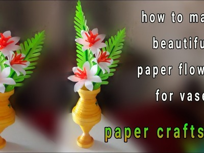 How to make beautiful flower stick for vase. amazing flowers stick. diy paper craft
