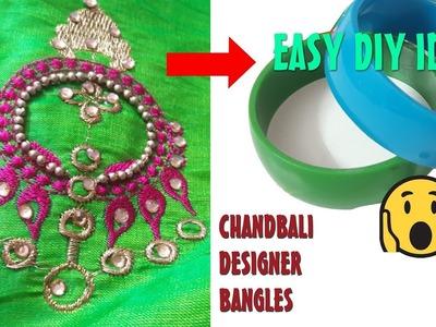 How to make Beautiful Silk Thread Bangles at Home || Chandbali Designer Bangles tutorial