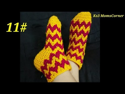 How to Make Beautiful Socks   how to crochet socks for women in hindi