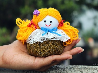 How to make Cute Doll for Room Decor.Best out of Waste.DIY Doll Craft