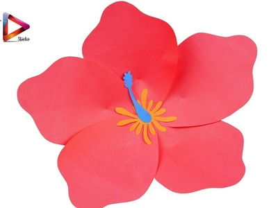 How To Make Giant Tissue Paper Hibiscus Flowers Flowers Healthy