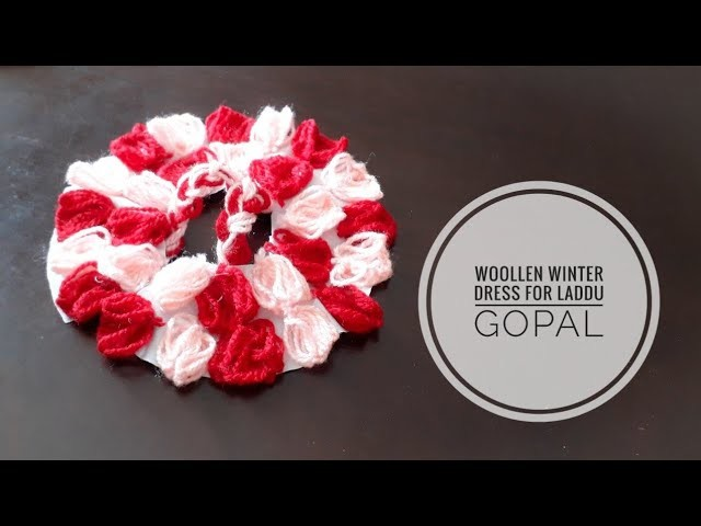 How to make No Knit No crochet easy Winter Woollen Dress for Laddu Gopal| Quicky Crafts