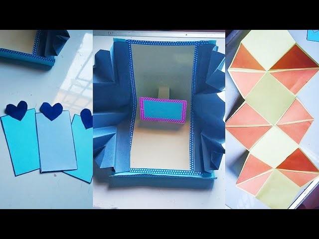 How to make Scrapbook Pages.  3 different Cards Ideas. DIY Scrapbook Tutorial Part four