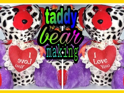 How to make taddy bear at home.taddy bear making diy.soft toy taddy bear at home in hindi