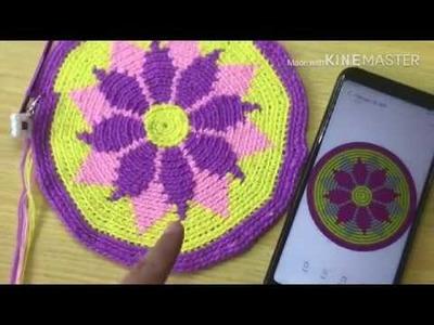How to Start a Tapestry Crochet (Mochila Bag)