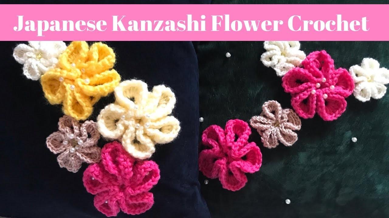 Japanese Kanzashi Flower Crochet