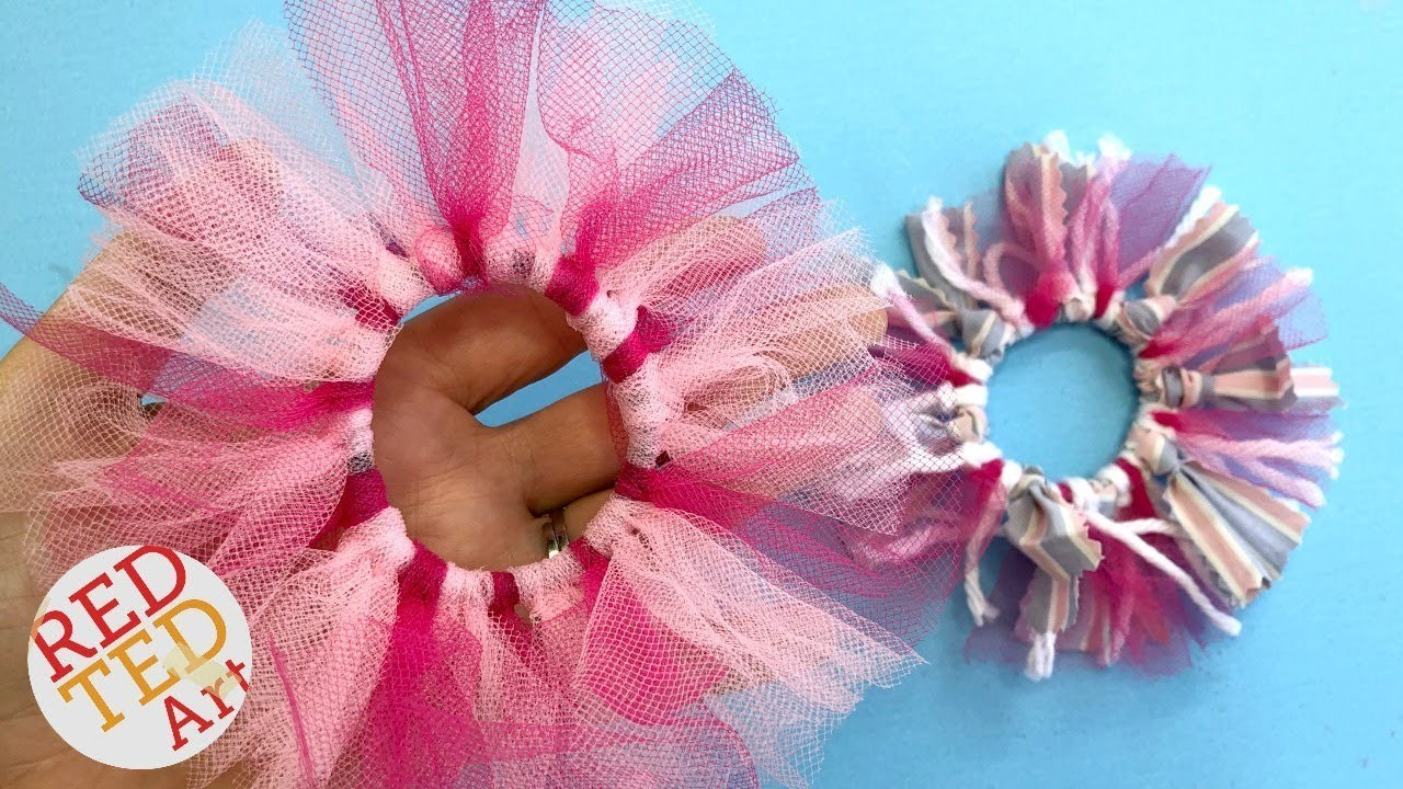 No Sew Scrunchie DIY - No glue -  How to make a Scrunchie No Sew
