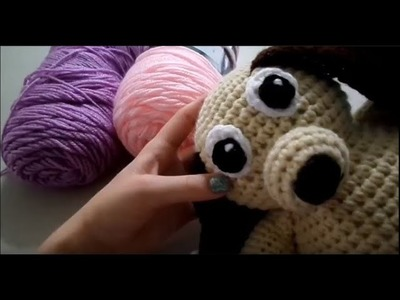 Part 4: How to Crochet the Eyes and Nose of Dog -Simply Sadie Crochet