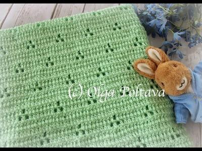 Rabbit Tracks Baby Blanket, Easy Baby Blanket Crochet Video Tutorial