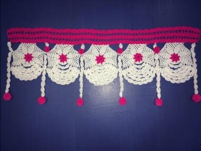Unique and easy door hanging crochet design flower pattern