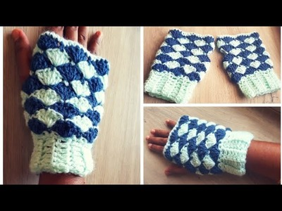Very Easy Crochet Hand Gloves for Adults-Shell Stitch  Gloves-DIY-Neidhal Crochet Tamil