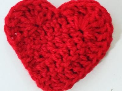 Very Easy Crochet Heart for beginners