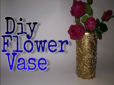 Diy Flower Vase - How To Make Flower Vase At Home With Cardboard Roll - Best Out Of Waste