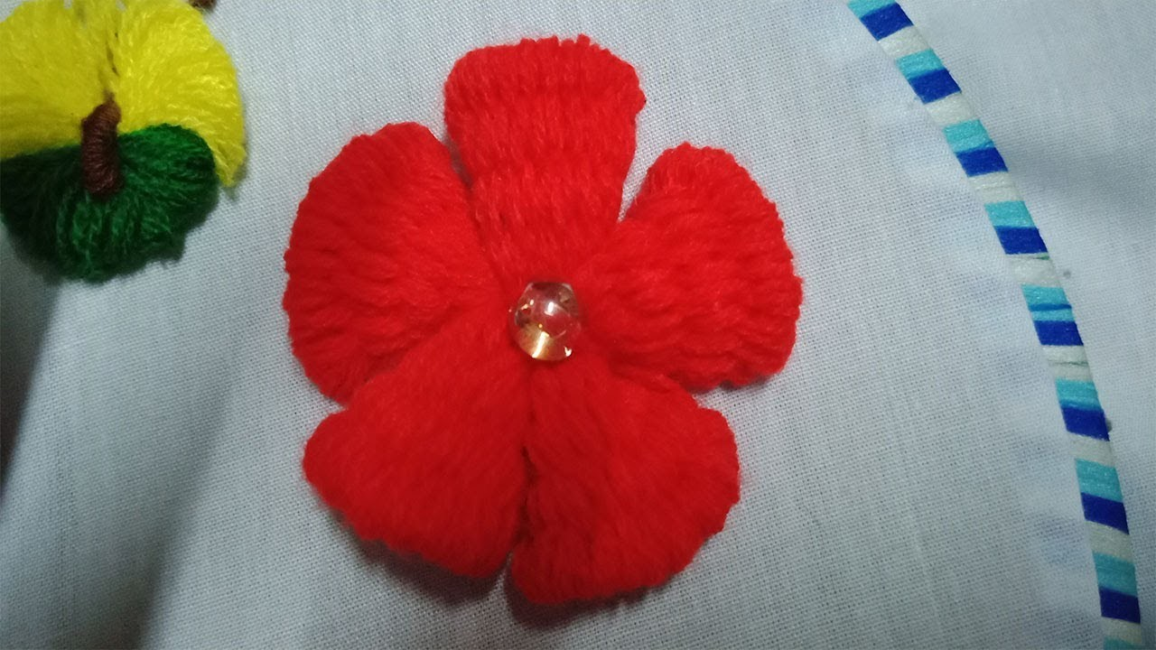 Hand Embroidery #3:  How to make flowers with embroidery thread
