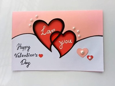 Handmade Valentine's Day Card. How to Make a Love Card For Loved Ones