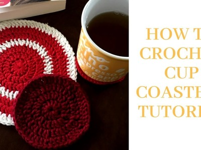 HOW TO CROCHET CUP COASTERS TUTORIAL