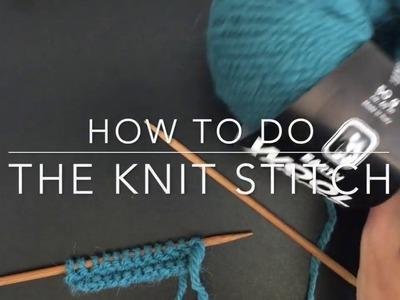 How to Do a Basic Knit Stitch