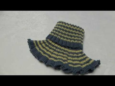How to knit childrens neckwarmer. pullover scarf, step by step (design 2)