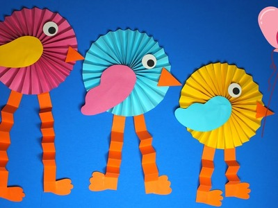 How to Make a Paper Bird | Spring Crafts for Kids