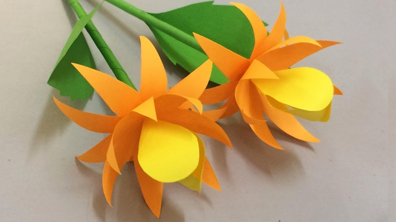 How to Make Beautiful Flower with Paper - Making Paper Flowers Step by Step - DIY Paper Flowers #21