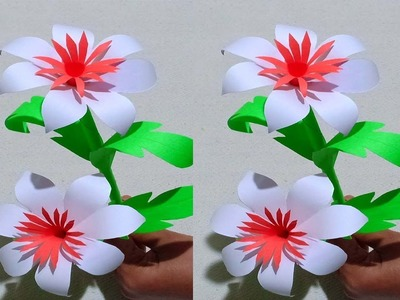How to Make Beautiful Flower with Paper - Making Paper Flowers Step by Step - DIY Paper Flower