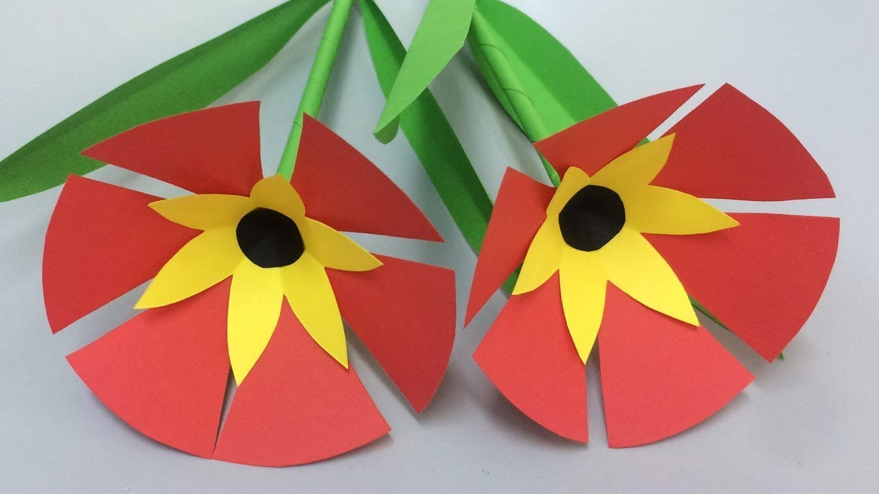 How to Make Beautiful Flower with Paper - Making Paper Flowers Step by Step - DIY Paper Flowers #27