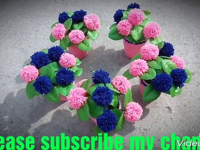 How to make flower pot in Hindi.
