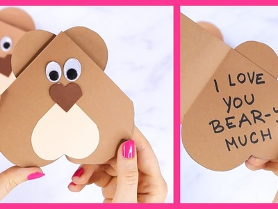 How to Make Hear Bear Valentines Day Card for Kids