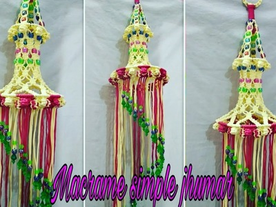 How to make macrame simple jhumar for beginners.
