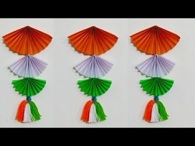 How to make Tri colour wall hanging. Republic Day special craft Ideas