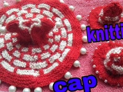 Knitting cap#1 for laddu gopal.How to make very easy winter cap for kanahji