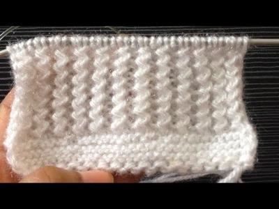Knitting pattern. Zigzag Stitch Pattern (RickRack stitch)For Cardigan,Sweater, Scarf