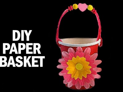 Learning Videos For Kids | How To Make A Paper Basket | Art And Craft Videos | DIY | Ultra Crafts