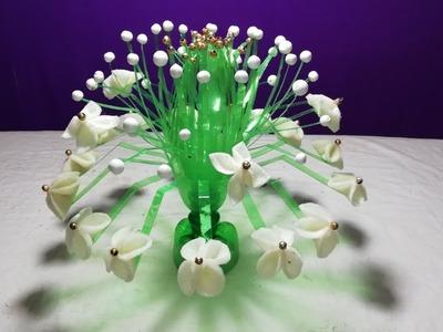 Make Beautiful Guldasta from plastic bottle.How to make Beautiful flowers vase
