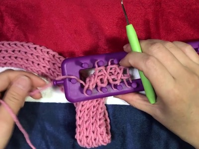 Making a muffler using a loom knitting (for the doll)
