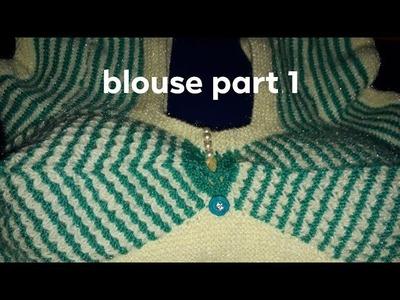 New design ladies blouse  blouse design part 1 blouse knitting design 