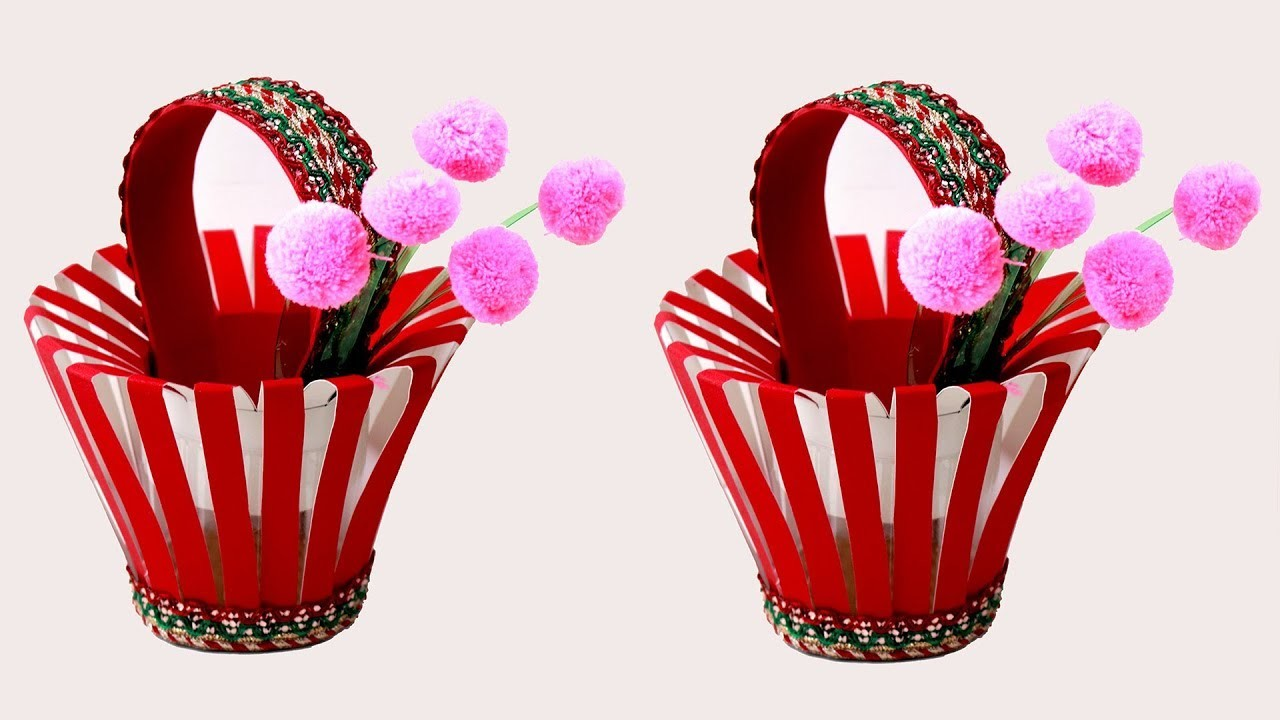 PLASTIC BOTTLE IDEA | How to Make Plastic Bottle & paper Basket in Easy Way | DIY paper Basket