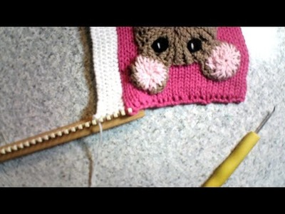 Test a live video while loom knitting.