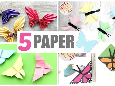 5 Paper Butterfly DIYs - How to make Butterfly from Paper