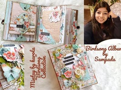 "Birdsong Scrapbook Album   Mintay by Karola collection   Album z kolekcji ""Birdsong"""