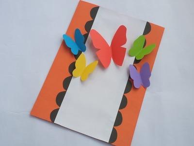 DIY:Handmade Birthday Card! How to Make Beautiful Paper Card for valentine day. Birthday.Greetings!!