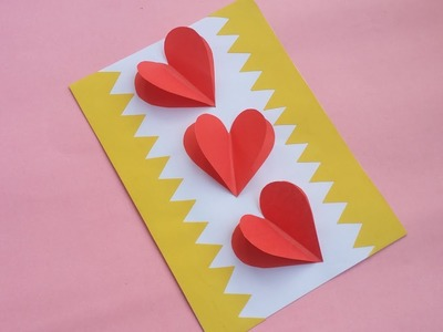 DIY:Handmade Card!! How to Make Paper Card for valentine.Greetings.Birthday.Boyfriend.Girlfriend!!!