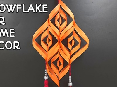 DIY   How to make 3D Snowflake   Awesome Idea with colors Paper   Snowflake