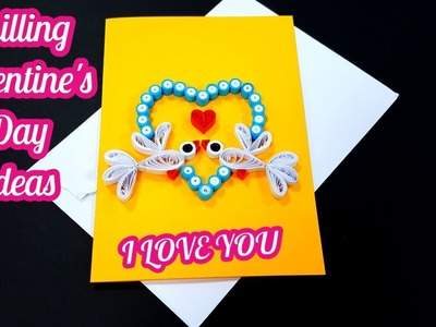Diy how to make paper quilling valentine's day greeting card by art life